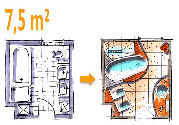 badplanung kleines bad größer 4m² - badraumwunder wiesbaden, Badezimmer ideen